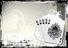 Poker grunge background Royalty Free Stock Photos