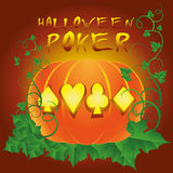 Poker halloween background Stock Image