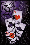 Poker halloween banner Royalty Free Stock Images