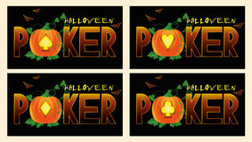 Poker halloween banners Royalty Free Stock Image