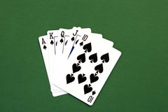 Poker Hand. Flush - Poker Hand royalty free stock photo