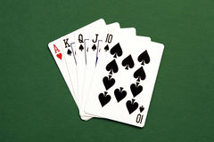 Poker Hand. Casino Cards royalty free stock photography