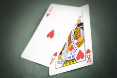 Poker hand Royalty Free Stock Photography