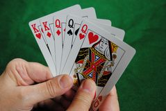 Free Poker Hand Royalty Free Stock Photos - 17859768