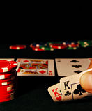 Poker Hand Stock Photo