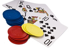 Poker hand Royalty Free Stock Photos