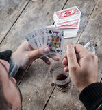 A Poker Hand Full House Stock Photography