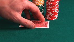 Poker  hand. stock video footage
