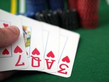 Poker hand LOVE Royalty Free Stock Photos