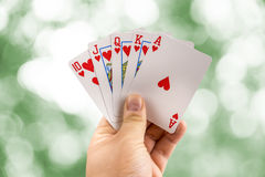 Poker Hand Royal Flush. Best Possible Poker Hand Royal Flush royalty free stock photography