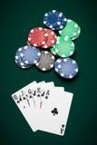 Poker hand Royal Flush Stock Photos