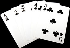 Poker Hand,Straight Stock Image