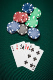 Poker hand Straight Royalty Free Stock Photos