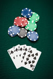 Poker hand Straight Flush Stock Image
