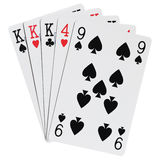 Poker hands Stock Images