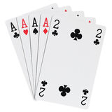 Poker hands Royalty Free Stock Photos