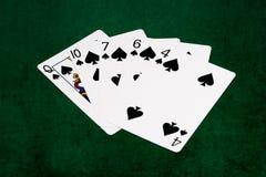 Poker hands - Flush - spades Royalty Free Stock Photo