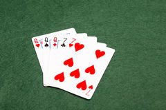 Poker Hands - Full House Royalty Free Stock Images
