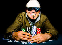 Poker happy face Royalty Free Stock Images