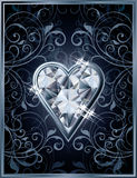 Poker hearts diamond card Royalty Free Stock Image