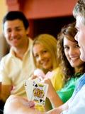 Poker hemma Royaltyfri Bild