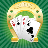 Poker-Horseshoe Royalty Free Stock Image