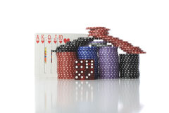 Poker House Stock Images