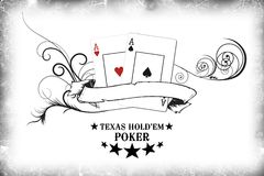 Poker - I'm all in. Great immage with banner, for a poker website vector illustration