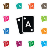 Poker Icon. Gamble Vector Element Can Be Used For Poker, Gamble, Casino Design Concept. Gamble Vector Element Can Be Used For Poker, Gamble, Casino Design royalty free illustration