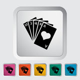 Poker icon Royalty Free Stock Photography