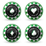 Poker  icons Stock Images
