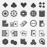 Poker icons set Stock Photo
