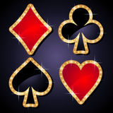 Poker icons Royalty Free Stock Image