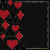 Poker illustration with card symbols Stock Image