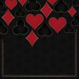 Poker illustration with card symbols Stock Photography