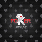 Poker  illustration on a dark background with card symbol Stock Photography