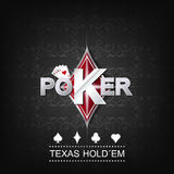 Poker  illustration on a dark background with card symbol Royalty Free Stock Image