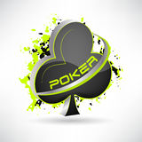 Poker  illustration with grunge effect. 3D design. Stock Photography
