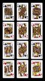 Poker J Q K som spelar kort Arkivfoto