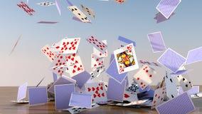 Poker-Karten-Fallen Stockbilder