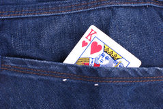 Poker:king of hearts Royalty Free Stock Photos