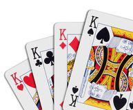 Poker of kings Royalty Free Stock Photo