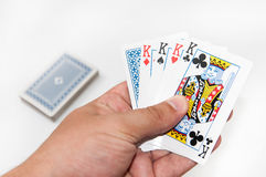 Poker of kings in the hand Royalty Free Stock Photo