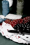 Poker and knife Stock Photography