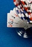 poker koktajlowym. Fotografia Royalty Free