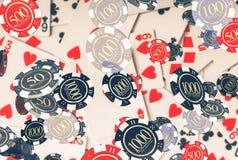 Poker-Konzept mit Chips Stockbild
