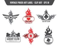 Poker label sticker Stock Photos