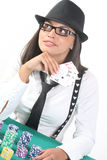 Poker lady Stock Image