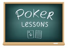 Poker lessons in school Royalty Free Stock Photos