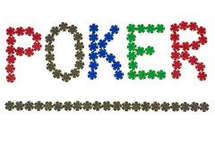 Poker letters Stock Photo